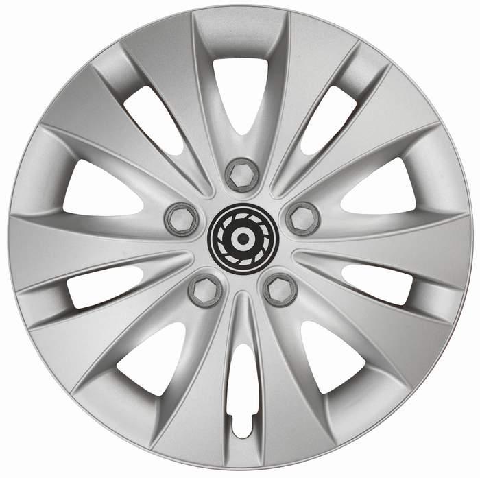 Kołpaki samochodowe Storm - srebrny, 15 cali