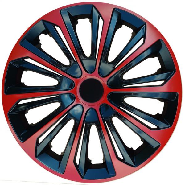 Kołpaki samochodowe Strong - czerwono czarny, 16 cali