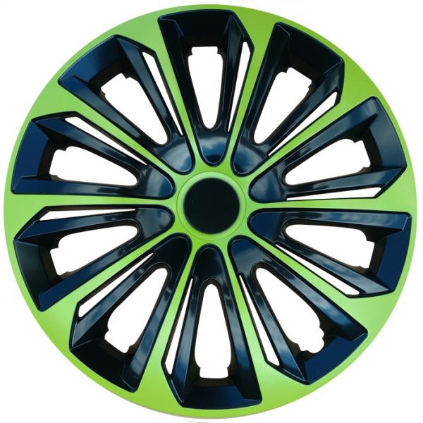 Kołpaki samochodowe Strong - zielono czarny, 15 cali