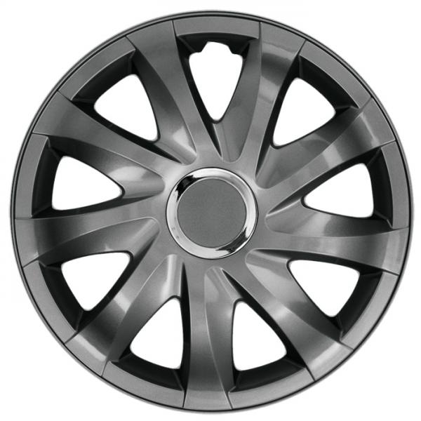 Kołpaki samochodowe Drift - grafit, 15 cali