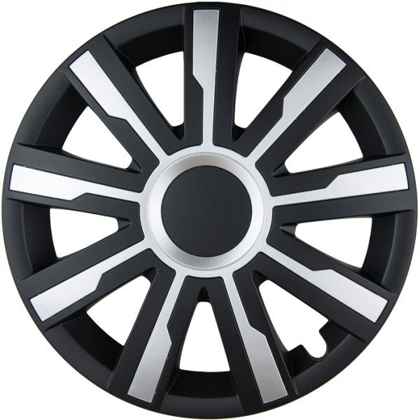 Kołpaki samochodowe Mirage - czarno srebrny, 16 cali