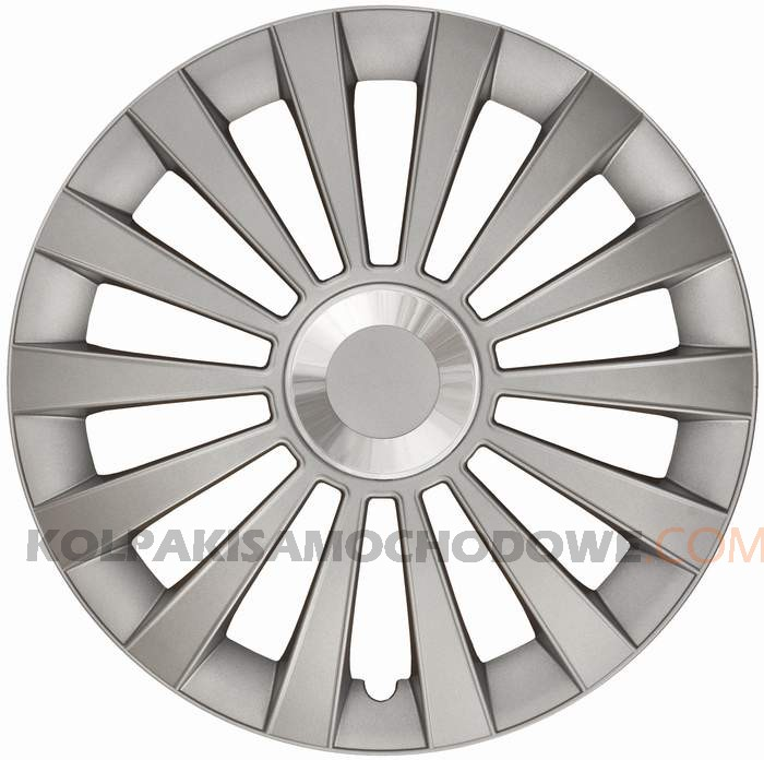 Kołpaki samochodowe Meridian Ring - srebrny, 15 cali