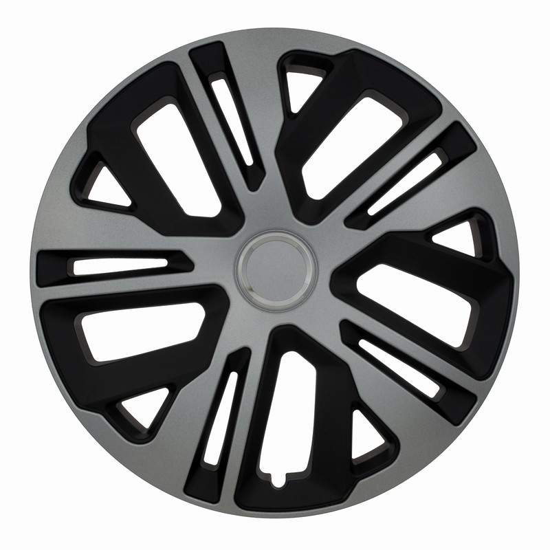 Kołpaki samochodowe Raven ring mix - czarno srebrny, 15 cali