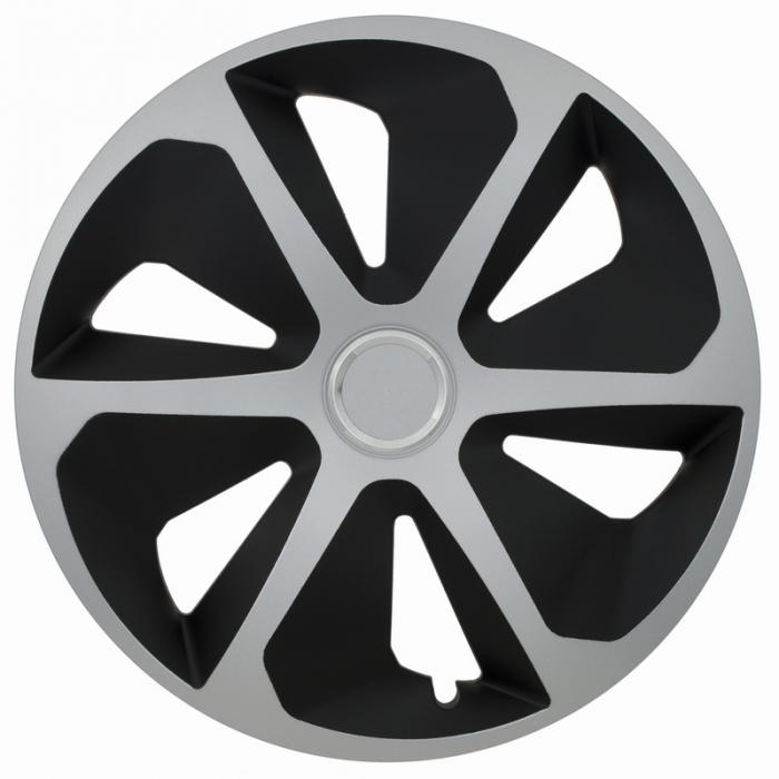 Kołpaki samochodowe Roco ring mix - czarno srebrny, 16 cali