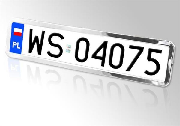 Chromowana ramka tablicy rejestracyjnej, 2 szt.