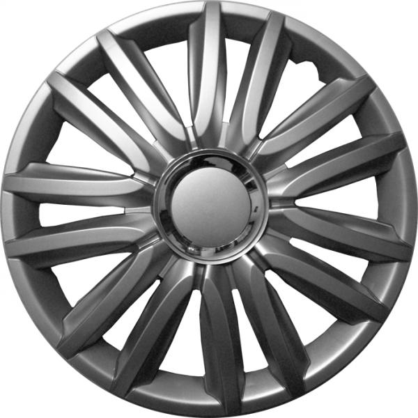 Kołpaki samochodowe Intensopro, srebrny - 15 cali