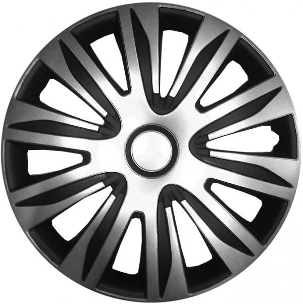 Kołpaki samochodowe Nardo srebrno-czarny, 15 cali