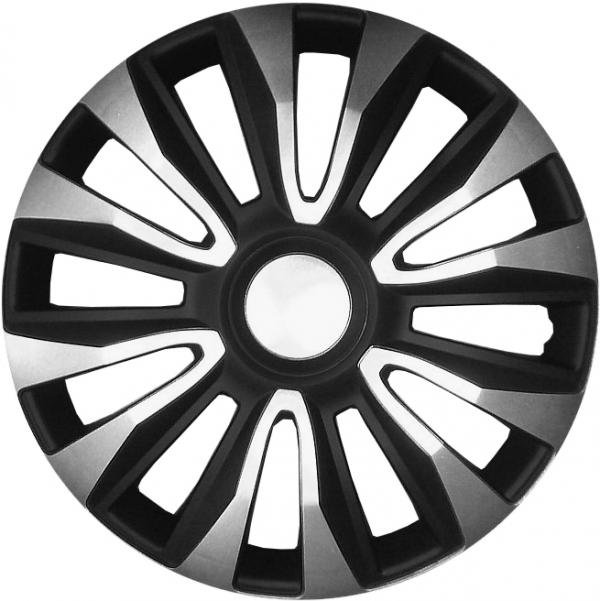 Kołpaki samochodowe Avalone srebrno-czarny, 16 cali