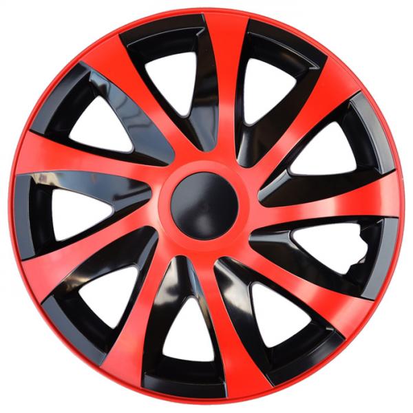 Kia (zamienniki) - Kołpaki samochodowe Draco - czerwono czarny, 16 cali