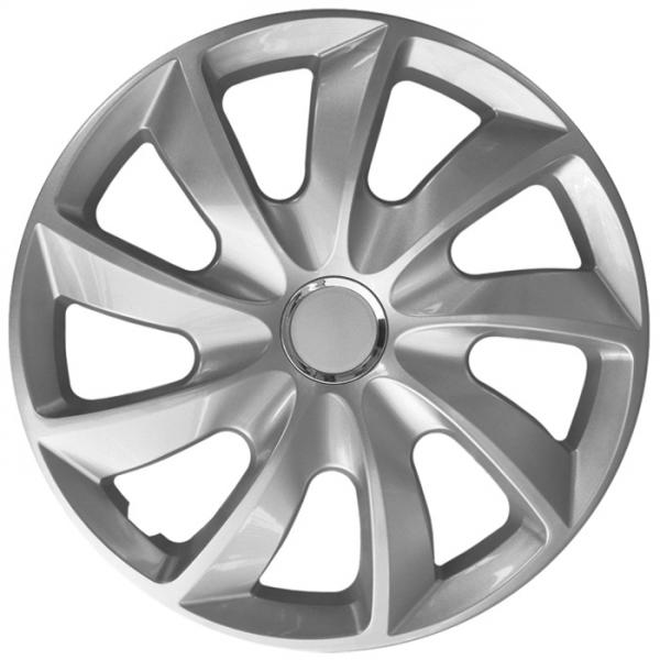 Kia (zamienniki) - Kołpaki samochodowe Stig - srebrny, 15 cali