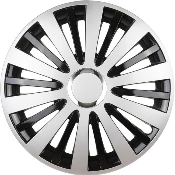 Kia (zamienniki) - Kołpaki samochodowe Falcon - srebrno czarny, 16 cali