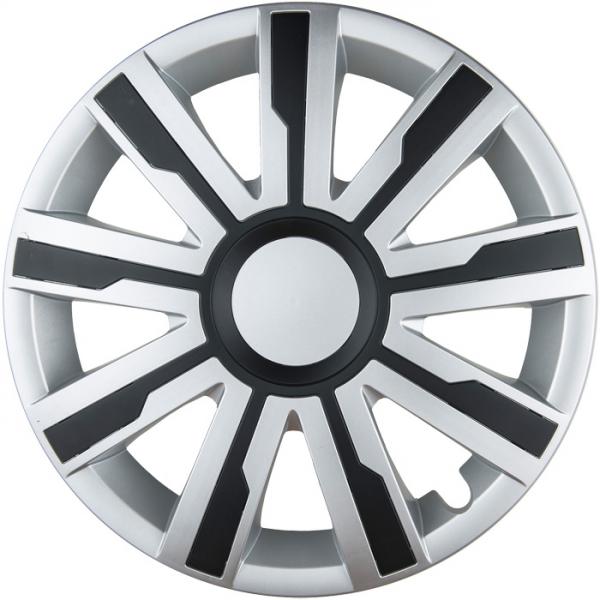 Kołpaki samochodowe Mirage - srebrno czarny, 15 cali