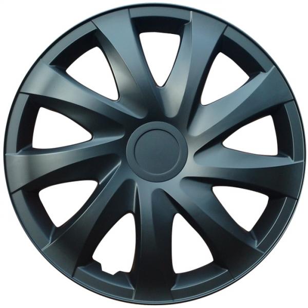 Kołpaki samochodowe Draco - czarny mat, 15 cali