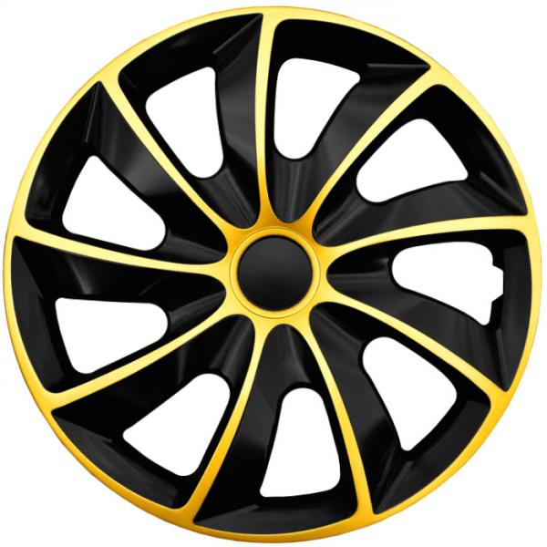Kia (zamienniki) - Kołpaki samochodowe Quad złoto-czarny, 16 cali