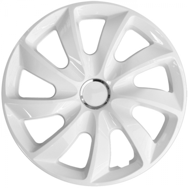 Kołpaki samochodowe Stig - biały, 15 cali