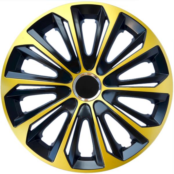 Kołpaki samochodowe Strong ring - złoto czarny, 15 cali