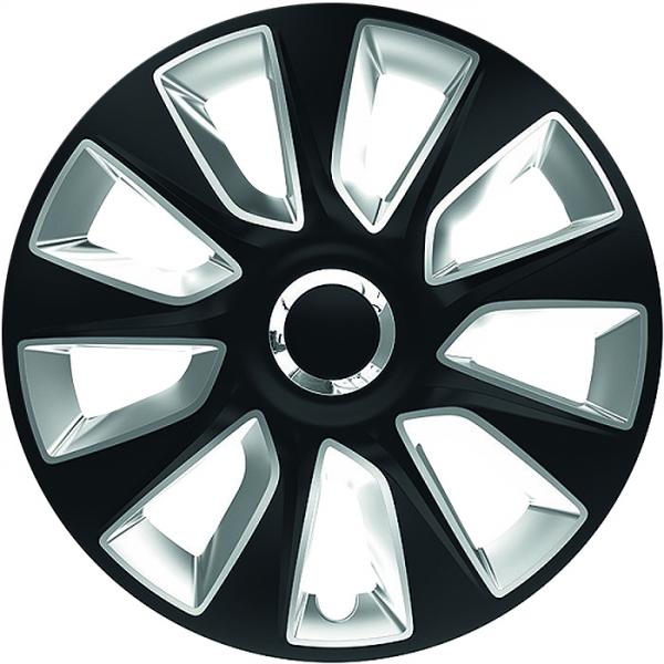 BMW (zamienniki) - Kołpaki samochodowe Stratos - srebrno czarny, 15 cali