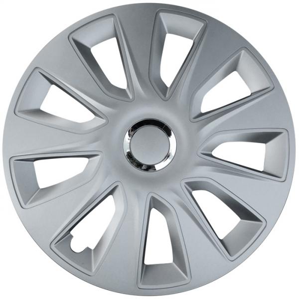 Kołpaki samochodowe Stratos - srebrny, 15 cali