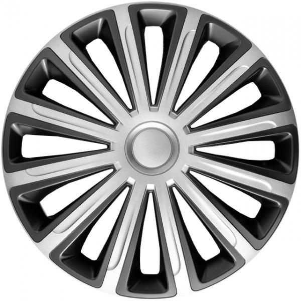 Kołpaki samochodowe Trend - srebrno czarny, 14 cali