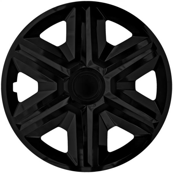 Kołpaki samochodowe Action - czarny, 15 cali
