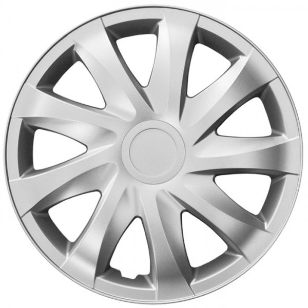 Kołpaki samochodowe Draco - srebrny, 15 cali