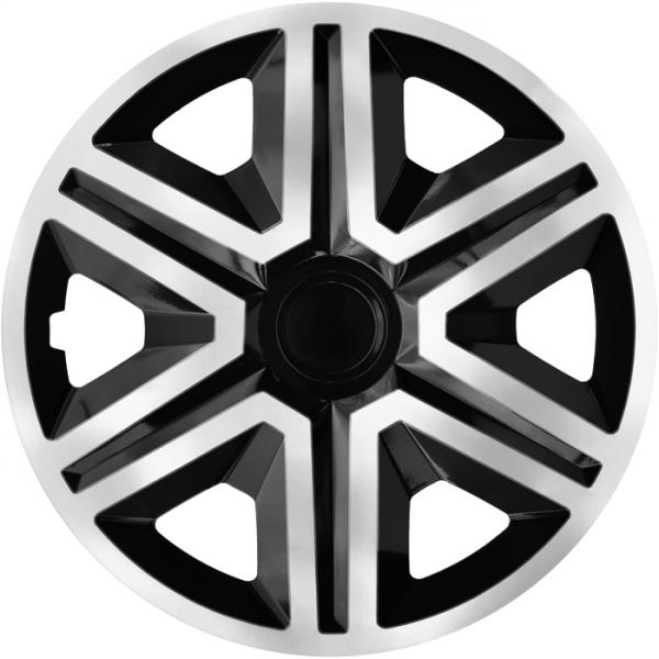 Kołpaki samochodowe Action - srebrno czarny, 14 cali