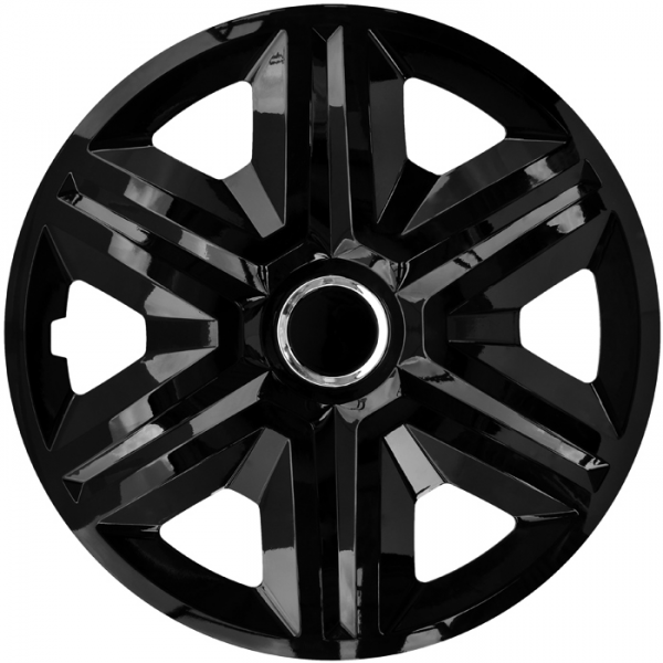 Kołpaki samochodowe Fast - czarny, 15 cali
