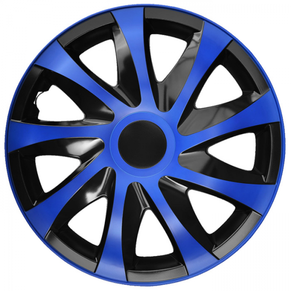 Kołpaki samochodowe Draco - niebiesko czarny, 14 cali