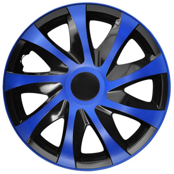 Kołpaki samochodowe Draco - niebiesko czarny, 15 cali