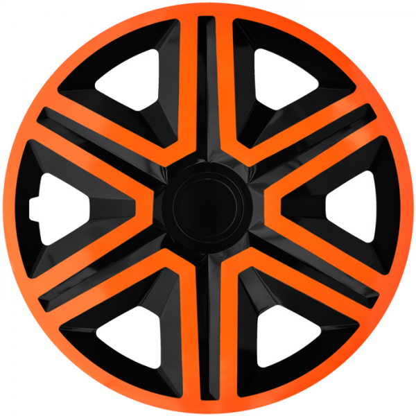 Kołpaki samochodowe Action - pomarańczowo czarny, 15 cali