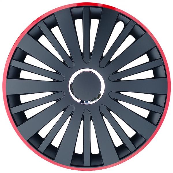 Kołpaki samochodowe Falcon - czerwono czarny, 16 cali