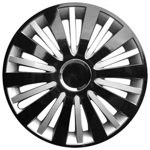 Kołpaki samochodowe Falcon - czarno srebrny, 15 cali