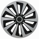 Kołpaki samochodowe Fox ring mix - czarno srebrny, 15 cali