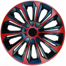 Kołpaki samochodowe Strong - czerwono czarny, 15 cali