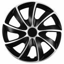 Kołpaki samochodowe Quad srebrno-czarny, 14 cali