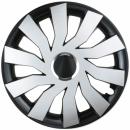 Kołpaki samochodowe Cliff - czarno srebrny, 15 cali