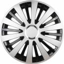 Kołpaki samochodowe Falcon - srebrno czarny, 16 cali