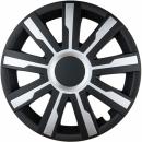 Kołpaki samochodowe Mirage - czarno srebrny, 15 cali