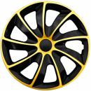 Kołpaki samochodowe Quad złoto-czarny, 15 cali