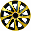Kołpaki samochodowe Drift - złoto-czarny, 16 cali