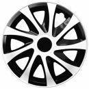 Kołpaki samochodowe Draco - biało czarny, 14 cali