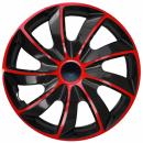Kołpaki samochodowe Quad czerwono-czarny, 15 cali