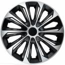 Kołpaki samochodowe Strong - srebrno czarny, 15 cali