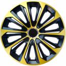 Kołpaki samochodowe Strong ring - złoto czarny, 14 cali