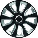 Kołpaki samochodowe Stratos - srebrno czarny, 15 cali