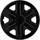 Kołpaki samochodowe Action - czarny, 16 cali