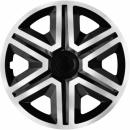 Kołpaki samochodowe Action - srebrno czarny, 15 cali