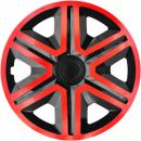 Kołpaki samochodowe Action - czerwono czarny, 14 cali