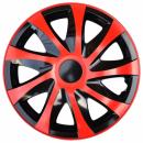 Kołpaki samochodowe Draco - czerwono czarny, 14 cali