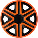 Kołpaki samochodowe Action - pomarańczowo czarny, 14 cali